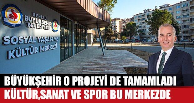 """""""Sosyal Yaşam ve Kültür Merkezi"""" Projesini Tamamladı"""