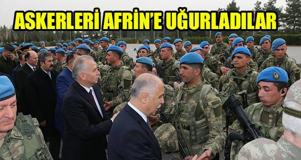 Denizli Askerlerini Afrin'e Uğurladı