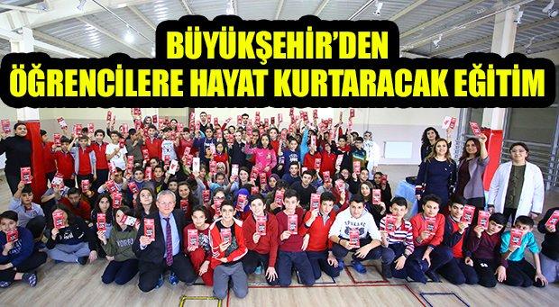 Büyükşehir'den öğrencilere deprem eğitimi