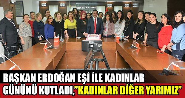 Başkan Erdoğan, DTO personelinin Kadınlar Günü'nü kutladı
