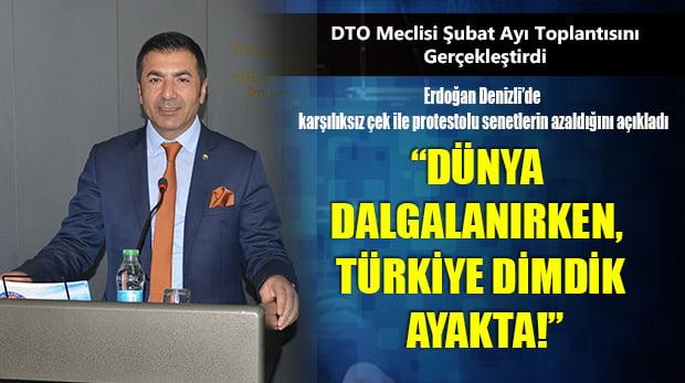 DTO Meclisi Aylık Toplantısını Gerçekleştirdi
