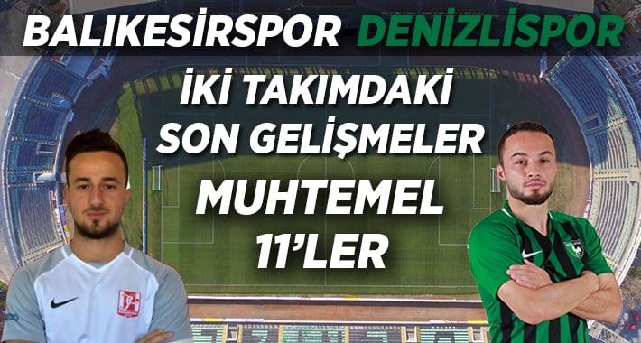 Denizlispor, Balıkesirspor'a Konuk Olacak