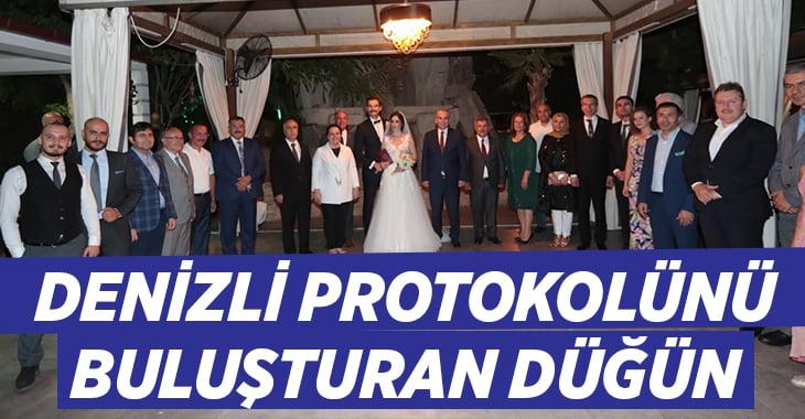 Denizli protokolünü buluşturan düğün