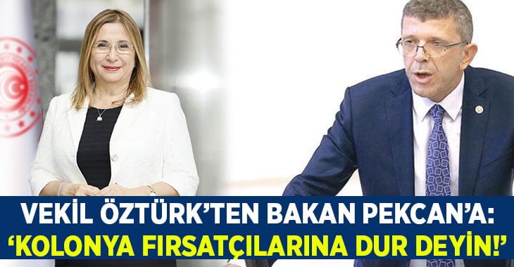 Vekil Öztürk, Kolonya fırsatçılığını Ticaret Bakanı'na sordu: Dur deyin!