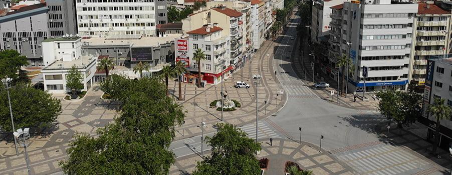 Denizli'de 3 günlük yasakta sokaklar boş kaldı, güvenlik önlemleri alındı