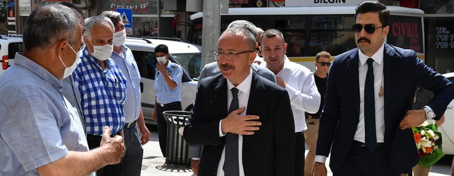 Denizli'nin yeni Valisi Ali Fuat Atik iki ilçeye ziyaret gerçekleştirdi