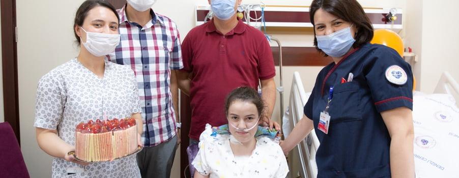 Şehit çocuğu Beyza doğum gününde sağlığına kavuştu