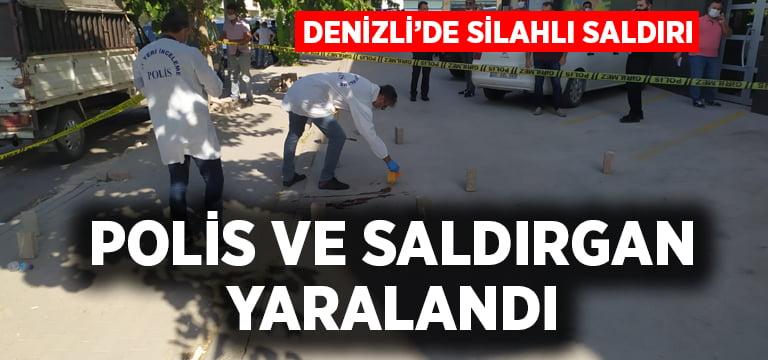 Denizli'de silahlı saldırı, polis ve saldırgan yaralandı