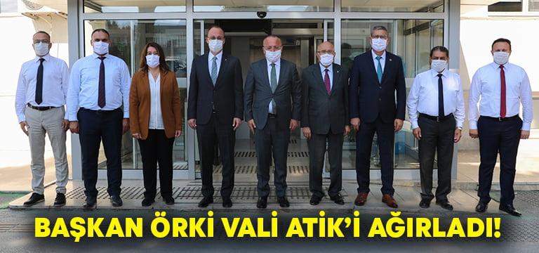 Başkan Örki, Vali Atik'i ağırladı!