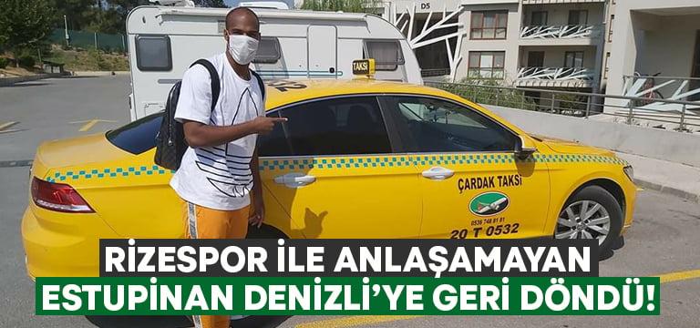 Rizespor'la anlaşamayan Estupinan Denizli'ye geri döndü!