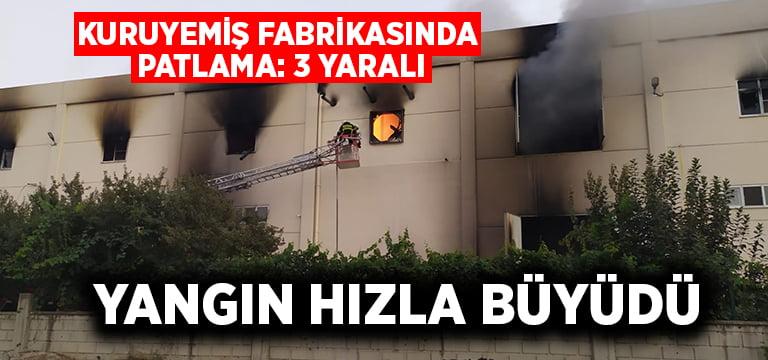 Denizli'de kuruyemiş fabrikasında patlama: 3 yaralı