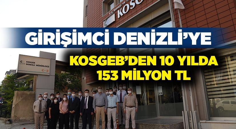 Girişimci Denizli'ye, 10 yılda KOSGEB'den 153 milyonluk destek