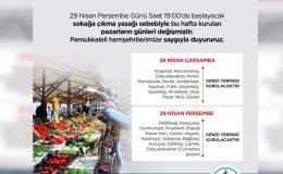 Pamukkale'de pazarların günü yeniden düzenlendi