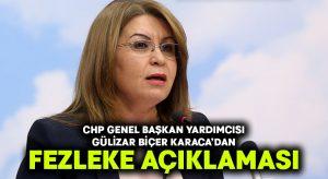 Gülizar Biçer Karaca'dan fezleke açıklaması