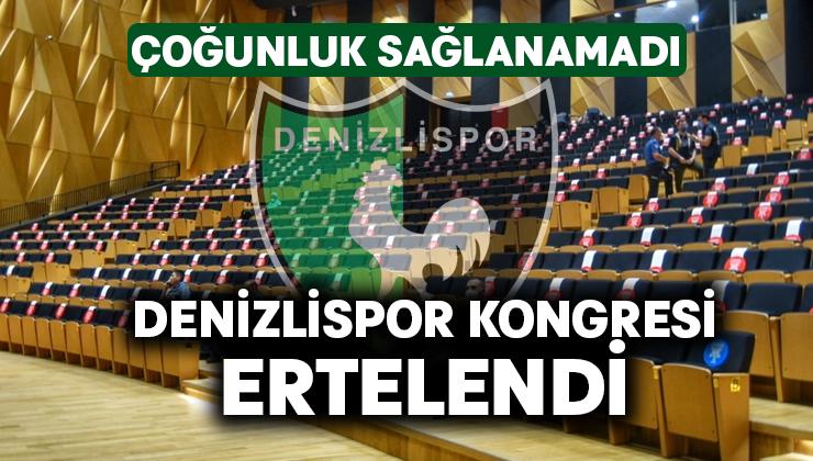 Denizlispor kongresi ertelendi