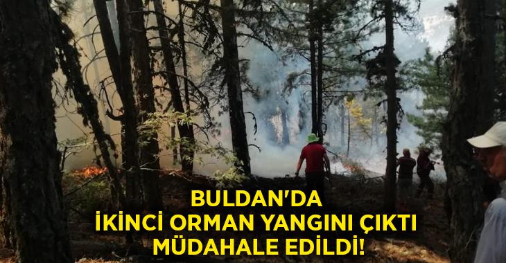 Buldan'da ikinci orman yangını çıktı.. Müdahale edildi!