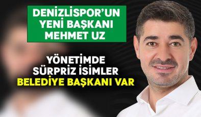 Denizlispor'un yeni başkanı Mehmet Uz oldu.. Yönetim Kurulu listesinde bir belediye başkanı yer aldı