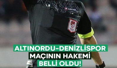 Altınordu – Denizlispor maçının hakemi belli oldu!