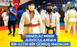 Denizlili minik judoculardan bir altın bir gümüş madalya!