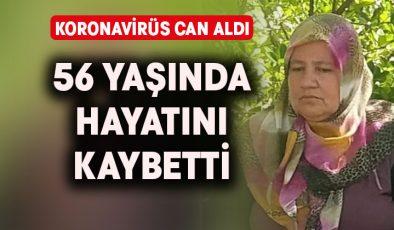 56 yaşındaki kadın koronavirüs kurbanı